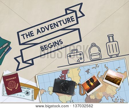 Travel Journey Exploration Holiday Vacation Concept