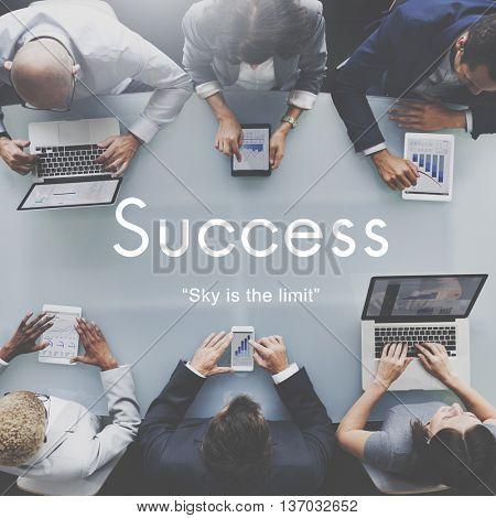 Success Improvement Development Achievement Accomplishment Concept