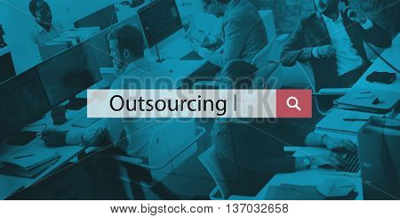 Outsourcing Workforce Manpower Freelance Outsource Concept