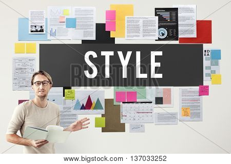 Style Fashionable Design Trendy Posh Concept