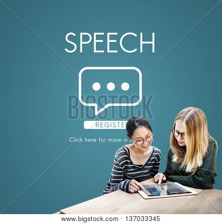 Speech Online Conversation Message Concept