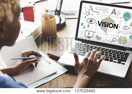 Vision Goals Aspirations Planning Word Concept