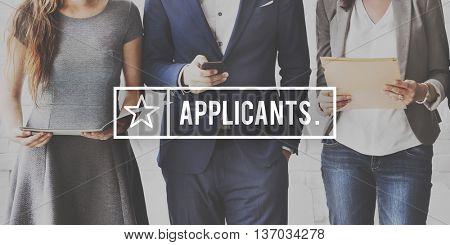 Applicant Job Application Career Hire Concept