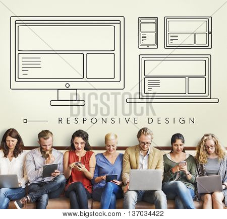 Responsive Design Layout Connection Content Concept
