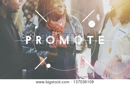 Promote Branding Advertise Publicity Upgrade Concept