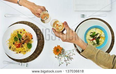 Romantic Date Couple Celebration Party Concept