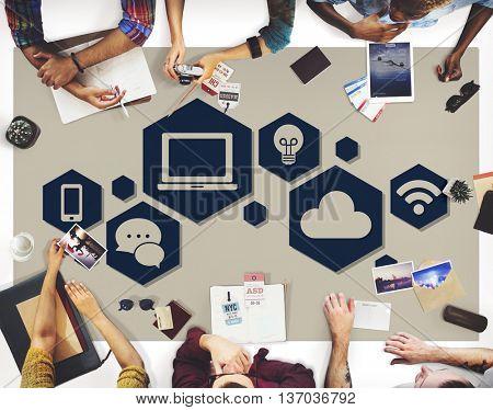 Internet Connection Technology Computer Social Concept