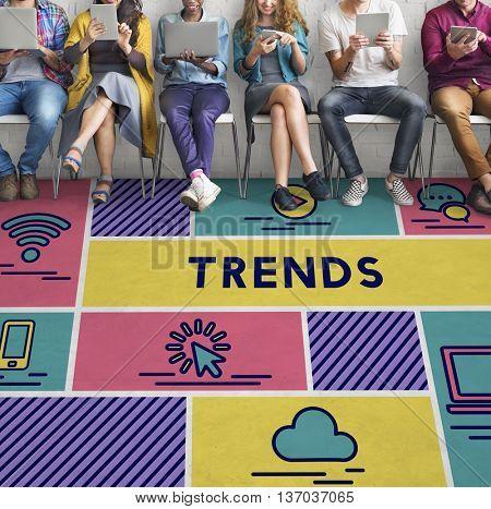 Trends Design Create Fashion Style Concept