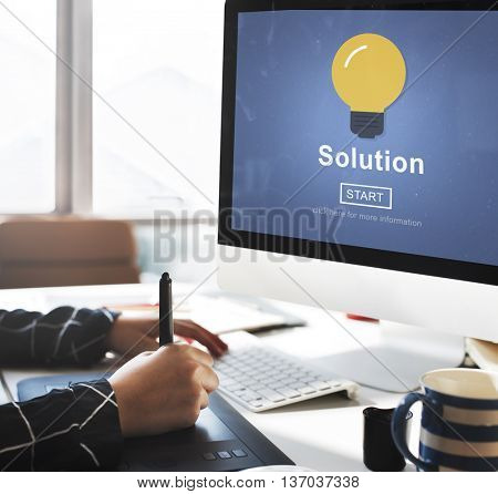 Solution Decision Solved Improvement Information Concept