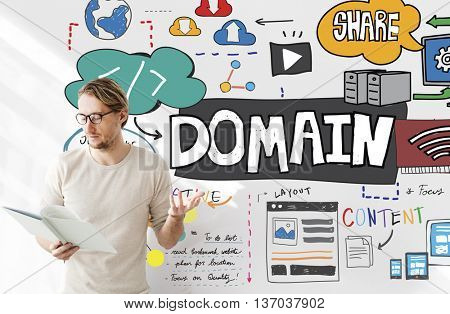 Domain Layout Address Share Content Concept