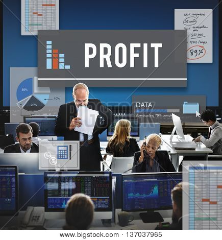 Profit Investment Income Data Research Concept