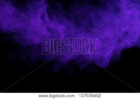 Abstract art. Smoke hookah on a black background. Inhalation. The concept of poison gas.