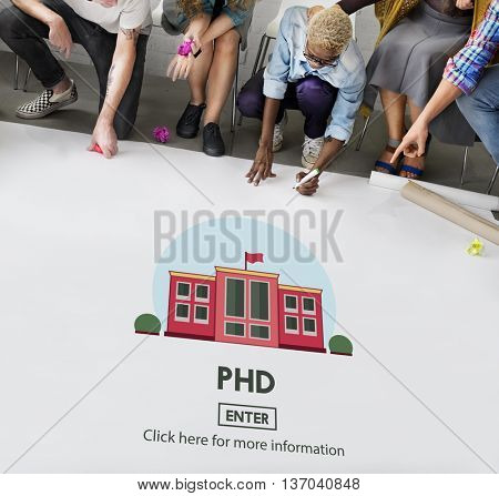 PHD Doctor of Philosophy Knowledge Education Concept