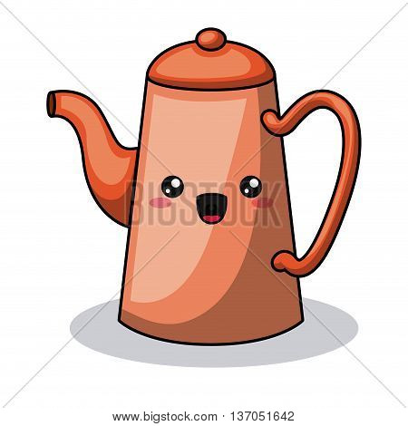 teapot character isolated icon design, vector illustration  graphic