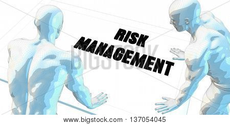 Risk Management Discussion and Business Meeting Concept Art 3D Render