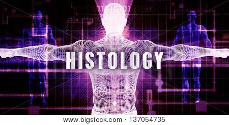 Histology as a Digital Technology Medical Concept Art 3D Render