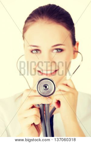 Doctor with stethoscope.