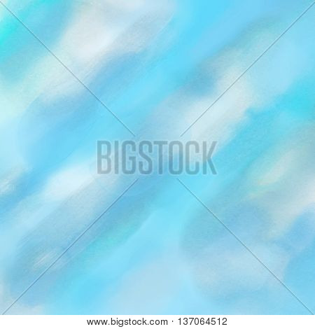 Abstract background with a blue watercolor background