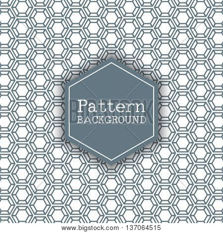 Pattern background with a hexagon design