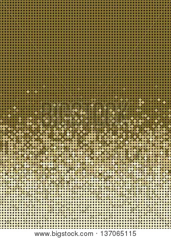 bubble gradient pattern in brown and beige