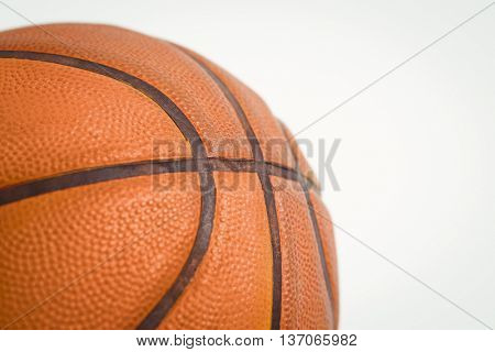 Close up of basket ball on white background