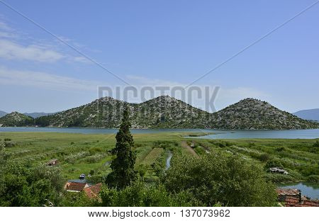 The landscape near the village of Blace in the coastal Dubrovnik-Neretva county of Croatia