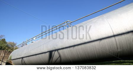Huge Pressure Vessel For The Storage Of Gas In The Fuel Producti