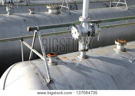 Shut-off Valve On The Pressure Vessel Of A Plant For The Storage