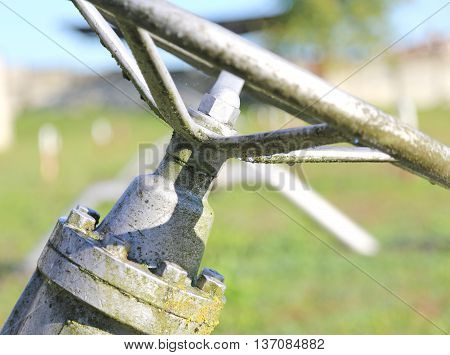 Gate Valve In The Plant Irrigation Of Cultivated Fields
