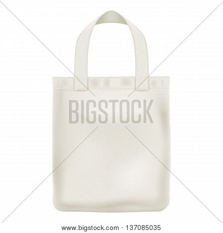 Eco textile tote shopper bag vector illustration. Good for branding design.