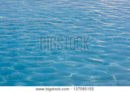 Blue Water Surface Texture Background.
