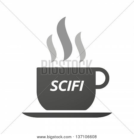 Coffee Mug Icon With    The Text Scifi