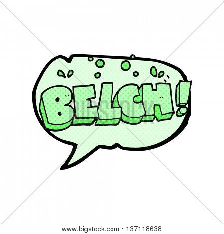 freehand drawn comic book speech bubble cartoon belch text
