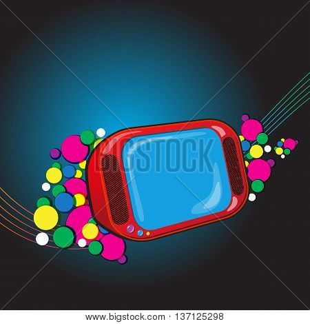 Abstract Composite Vector Background with TVset. Vector illustration