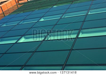 The Glass Facade of a Modern Building