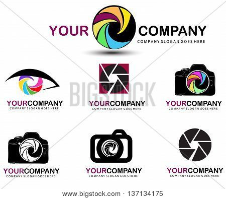 An illustration of a logo representing an abstract photographer logo