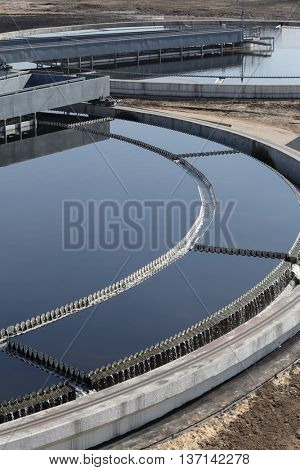 Biological wastewater treatment is carried out in aeration tanks of propellant.