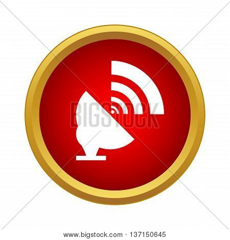 Satellite dish antenna radar icon in simple style on a white background