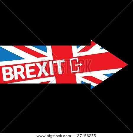 Brexit Text isolated. United Kingdom exit from europe union vector illustration. Brexit conceptual image
