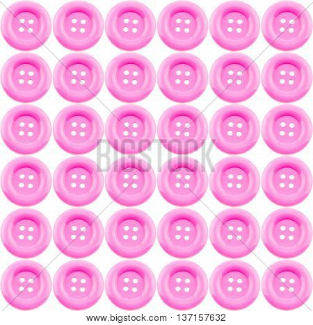 pink clasper pattern isolated on white background