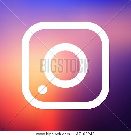 Simple camera icon on a colorful background