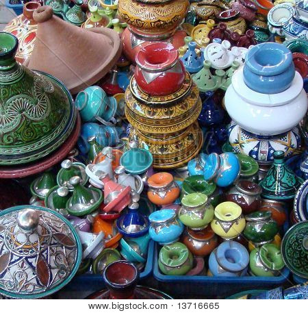 Colourful Moroccan Pottery