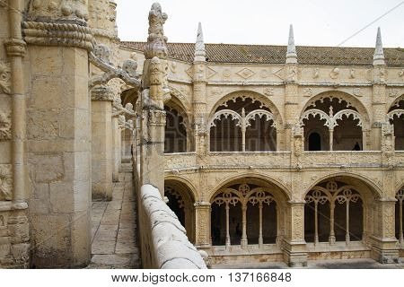 Lisbon, The Cloister Of The Monastery Dos Jeronimos