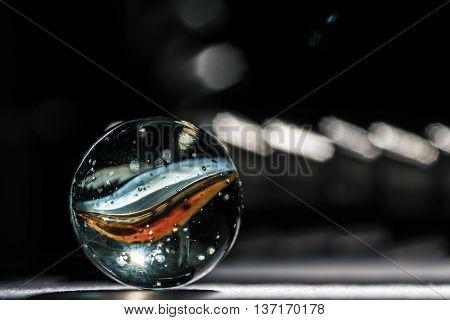Glass marbles spheres studio close up macro