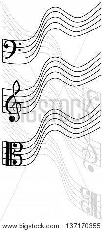 treble clef , bass clef , viola