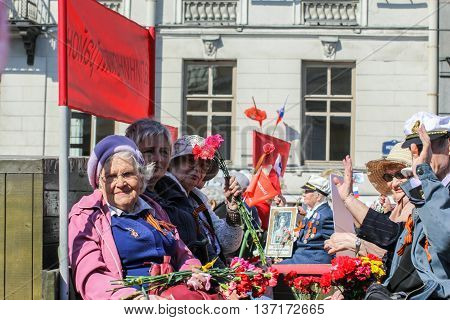 St. Petersburg, Russia - 9 May, War veterans in action