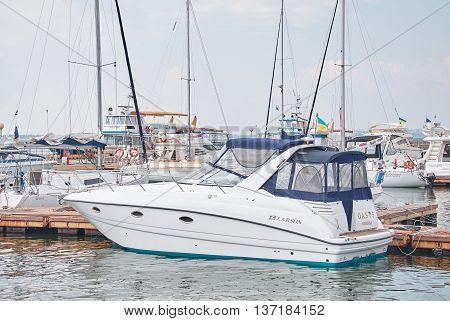 Yachts In The Port Of Odessa, Ukraine