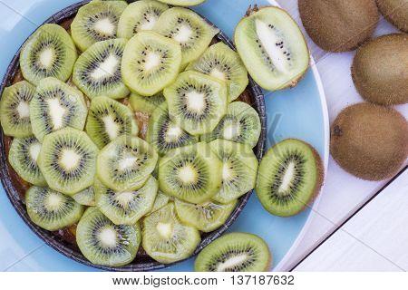 kiwi pie, kiwi cake, kiwi tart homemade