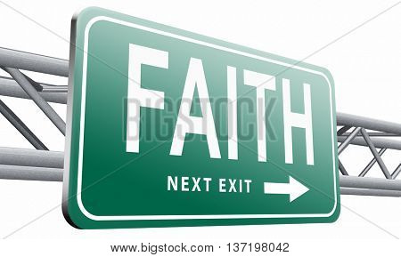 faith trust and belief in god jesus christ and friends, 3D illustration isolated on white.