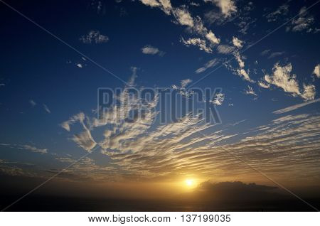 Cloud Formation As The Sun Sets